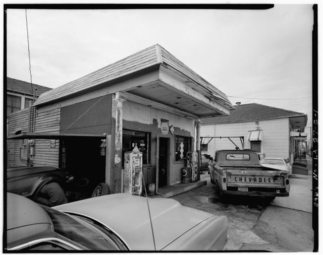 Faubourg Marigny District, Burgundy & St. Roch Streets (Gas Station), New Orleans, Orleans Parish, LA