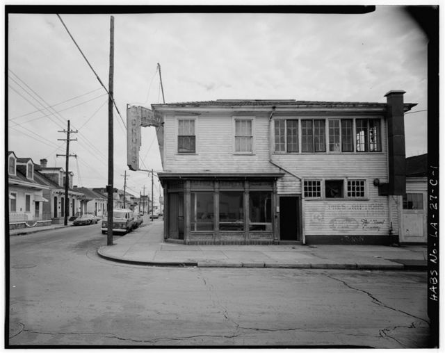 Faubourg Marigny District, Laundry (Cardau Drugs), Spain & Burgundy Streets, New Orleans, Orleans Parish, LA