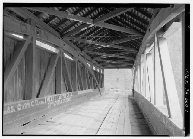 Felten's Mill Covered Bridge, Spanning Brush Creek at junction of Township Route 386 & State Route 2029, Breezewood, Bedford County, PA