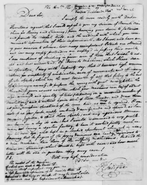 Ferdinando Fairfax to Thomas Jefferson, no date