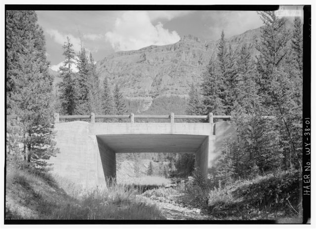 FHWA Creek Bridge, Spanning FHWA Creek at Northeast Entrance Road, Lake, Teton County, WY