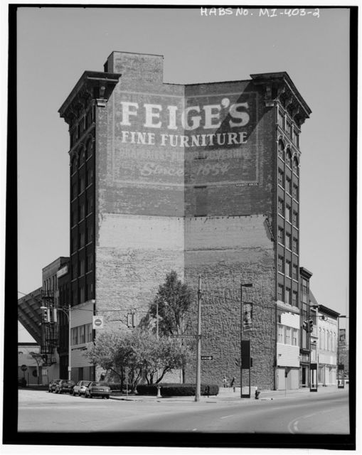 Fiege Building (Commercial Building), 511-513 East Genesee Street, Saginaw, Saginaw County, MI