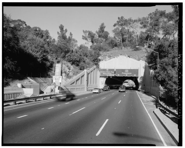 Figueroa Street Tunnels, Mileposts 24.90, 25.14, 25.28, & 25.37 on Arroyo Seco Parkway, Los Angeles, Los Angeles County, CA