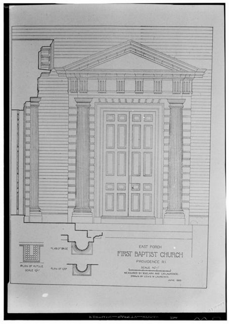 First Baptist Meetinghouse, 75 North Main Street, Providence, Providence County, RI