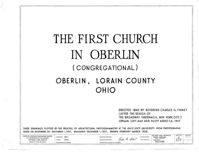First Church in Oberlin (Congregational), North Main & West Lorain Streets, Oberlin, Lorain County, OH
