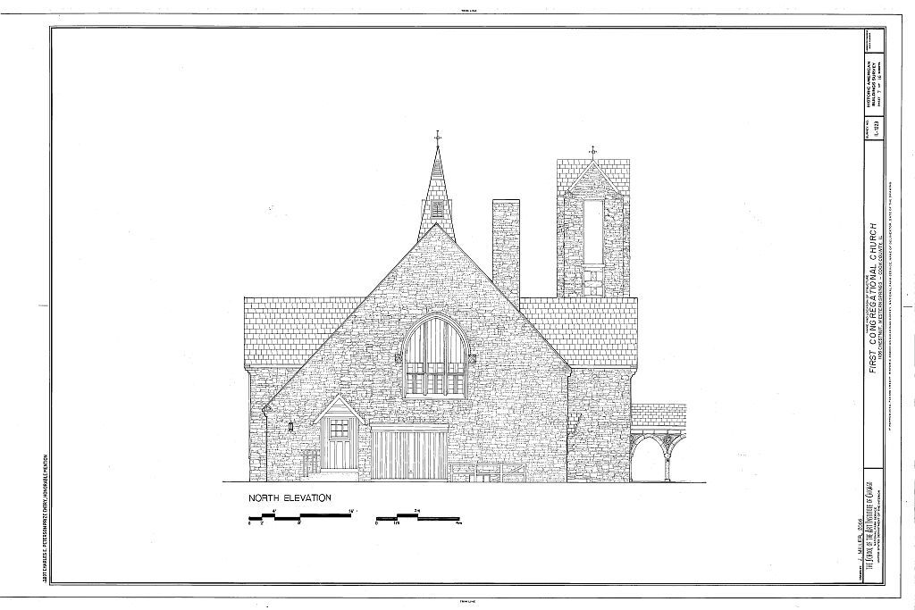 First Congregational Church, 1106 Chestnut Street, Western Springs, Cook County, IL