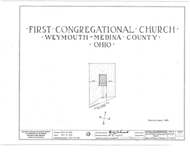 First Congregational Church, State Route 3, Weymouth, Medina County, OH