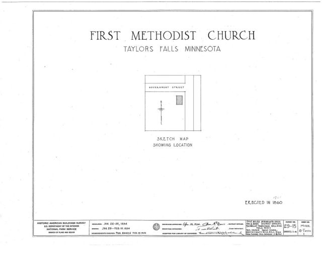 First Methodist Church, Government Street, Taylors Falls, Chisago County, MN