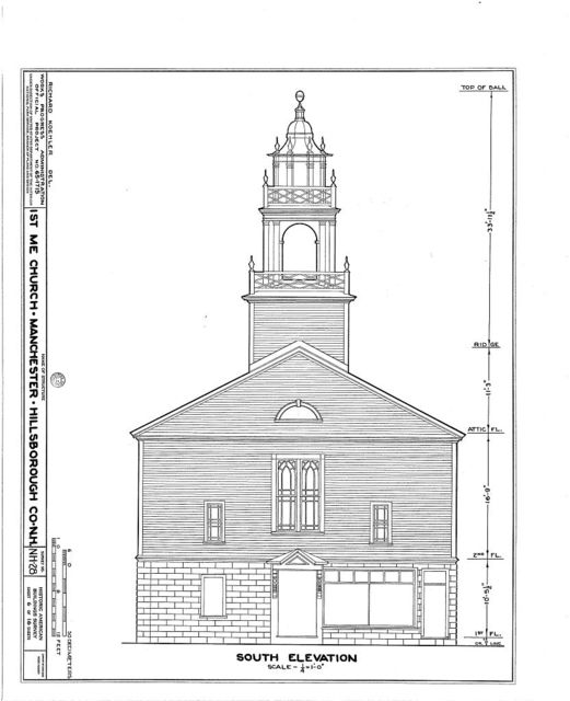 First Methodist Episcopal Church, Valley & Jewett Streets (moved from NH, Derryville), Manchester, Hillsborough County, NH
