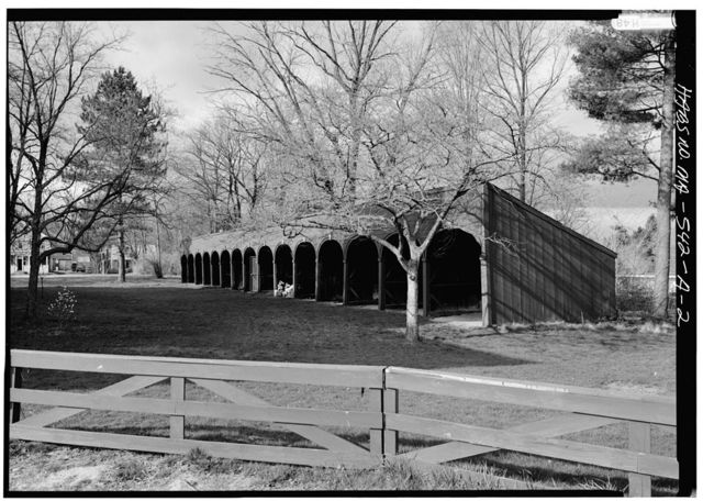 First Parish Church, Stables, Town Green, Thayer Drive, Lancaster, Worcester County, MA