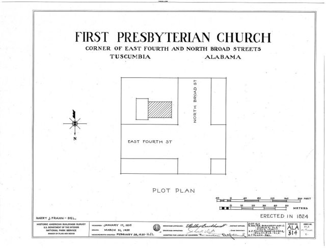 First Presbyterian Church, East Fourth & North Broad Streets, Tuscumbia, Colbert County, AL