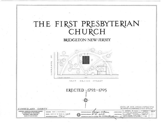 First Presbyterian Church, West Broad Street, Bridgeton, Cumberland County, NJ