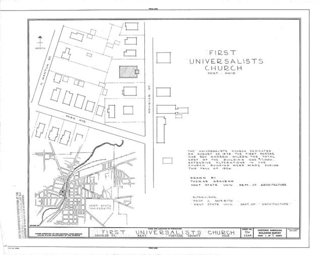 First Universalist Church, Gougler Street, Kent, Portage County, OH