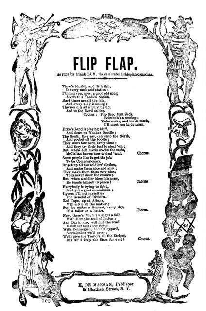 Flip flap. H. De Marsan, Publisher. 54 Chatham Street, N. Y