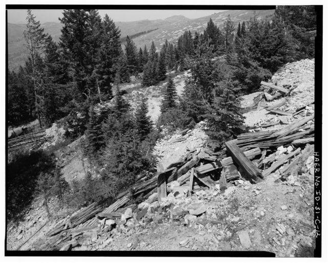 Florida Mountain Mining Sites, Tip Top Mine, West face Florida Mountain, approximately 150 feet below summit, Silver City, Owyhee County, ID