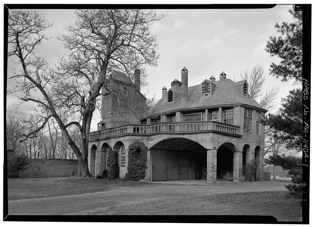 Fonthill, Garage, East Court Street, State Route 313 vicinity, Doylestown, Bucks County, PA