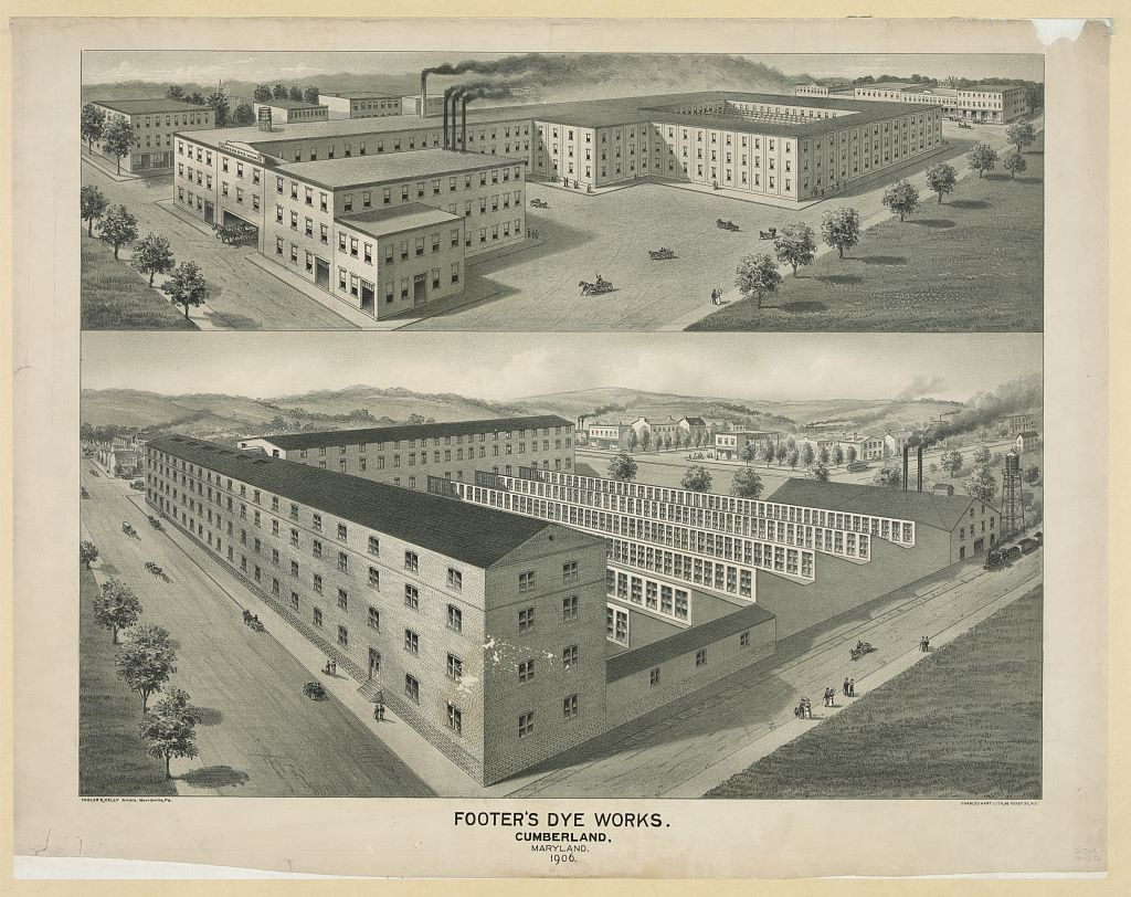 Footer's dye works. Cumberland, Maryland, 1906