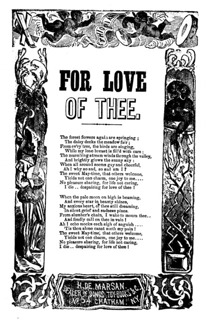 For love of thee. H. De Marsan, No. 54 Chatham Street, N. Y