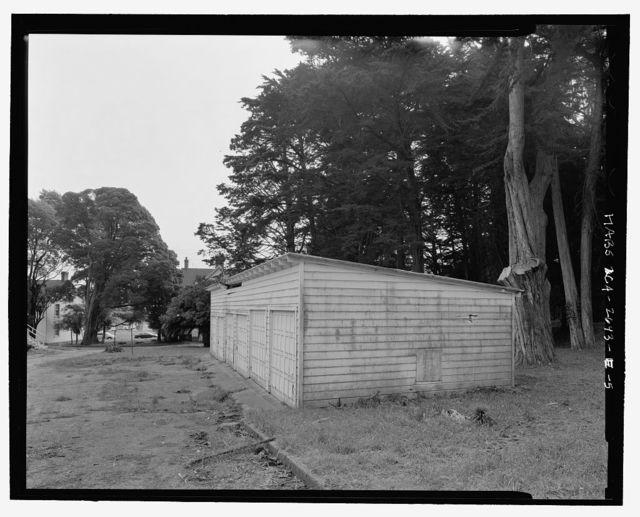 Fort Baker, Garage, Umia Street parking lot, Sausalito, Marin County, CA