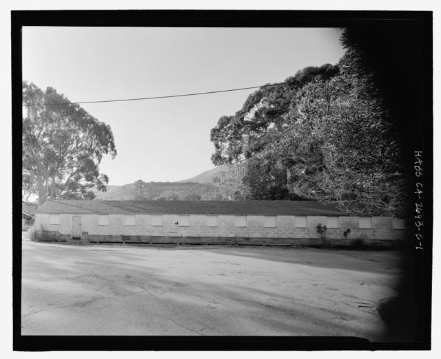 Fort Baker, Temporary World War II Warehouse, East Road & McReynolds Road, Sausalito, Marin County, CA