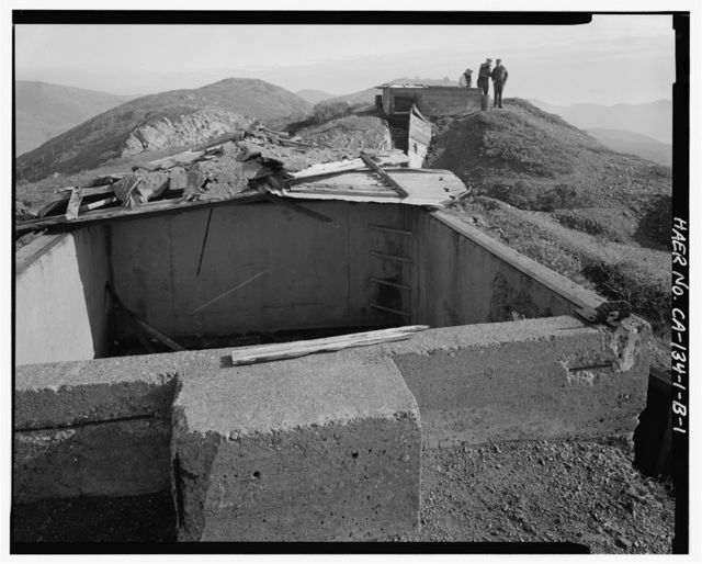Fort Cronkhite, Anti-Aircraft Battery No. 1, Director Pit, Wolf Ridge, Sausalito, Marin County, CA