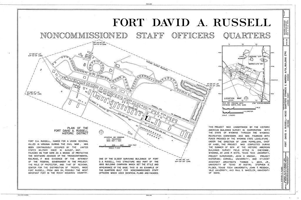 Fort David A. Russell, N. C. O. Quarters, First Avenue & Eighth Street, Cheyenne, Laramie County, WY
