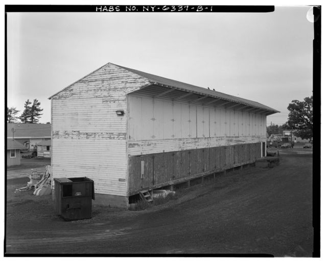 Fort Drum, Lumber Storage Shed, In Directorate of Engineering & Housing Compound, at Utility Road & First Street, Watertown, Jefferson County, NY