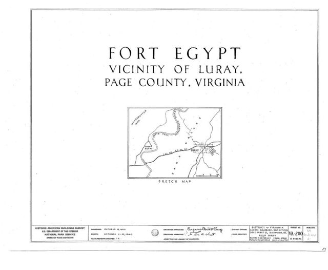 Fort Egypt, State Route 615, Luray, Page County, VA