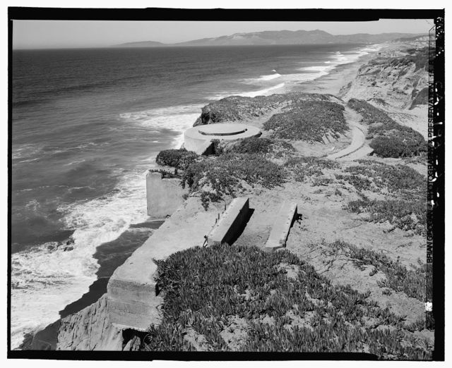 Fort Funston, Panama Mounts for 155mm Guns, Skyline Boulevard & Great Highway, San Francisco, San Francisco County, CA