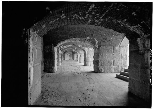 Fort Gorges, Hog Island Ledge, Portland Harbor, Portland, Cumberland County, ME