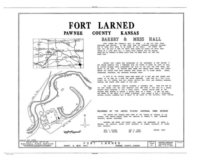 Fort Larned, Bakery & Mess Hall, Larned, Pawnee County, KS