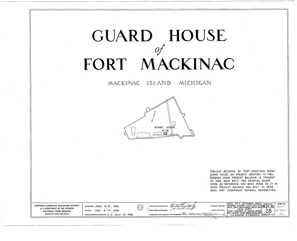 Fort Mackinac, Guardhouse, Mackinac Island, Mackinac County, MI