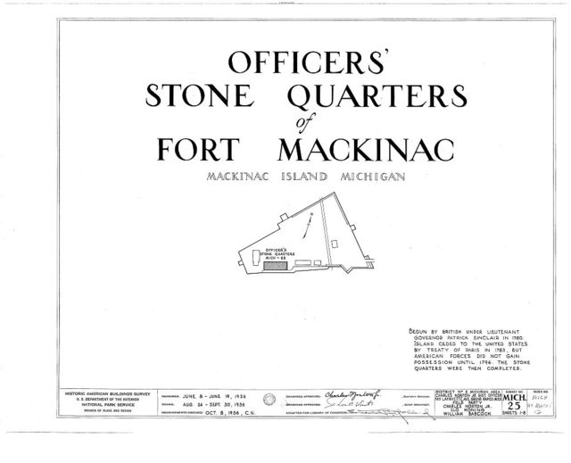 Fort Mackinac, Officers Stone Quarters, Mackinac Island, Mackinac County, MI