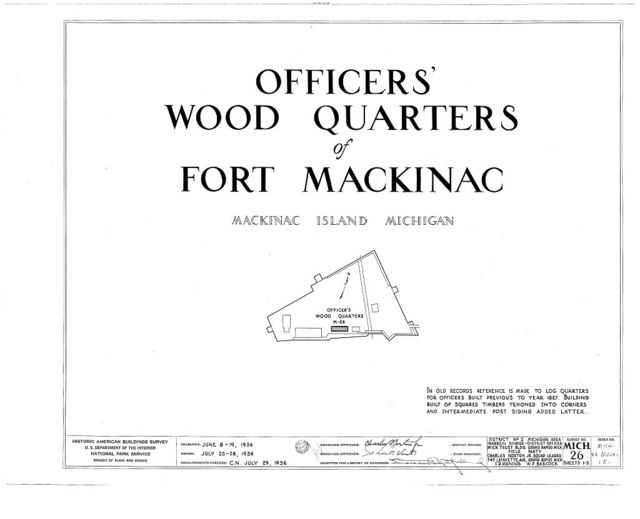Fort Mackinac, Officers Wood Quarters, Mackinac Island, Mackinac County, MI