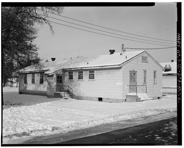 """Fort McCoy, Building No. T-1106, South """"R"""" Street, midway between South Eleventh & South Tenth Avenues, Sparta, Monroe County, WI"""