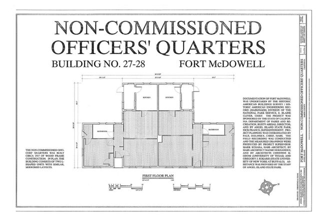 Fort McDowell, Non-Commissioned Officers' Quarters, Angel Island State Park, Angel Island, Marin County, CA