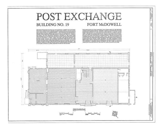 Fort McDowell, Post Exchange, Angel Island State Park, Angel Island, Marin County, CA