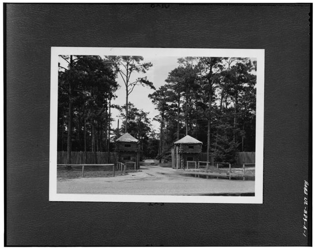 Fort Raleigh, Entrance Gate, U.S. 64-264, Manteo, Dare County, NC