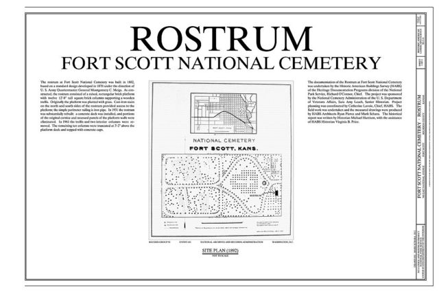 Fort Scott National Cemetery, Rostrum, 900 East National Avenue, Fort Scott, Bourbon County, KS