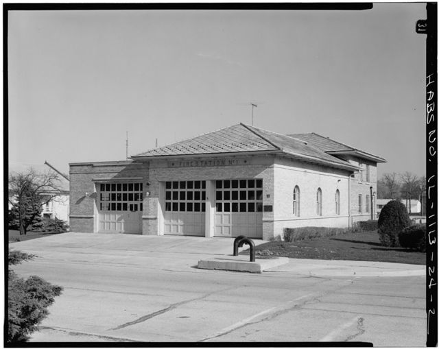Fort Sheridan, Fire Station, Whistler & Ronan Roads, Lake Forest, Lake County, IL