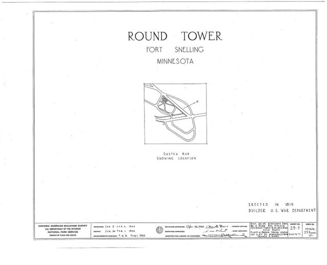 Fort Snelling, Round Tower, Bound by Mississippi River, Airport, Minnehaha Park, Minneapolis, Hennepin County, MN