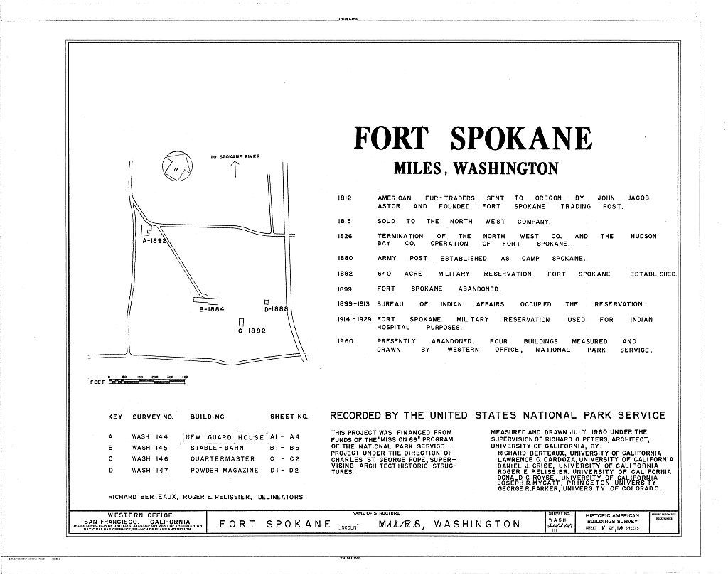 Fort Spokane, Lincoln, Lincoln County, WA