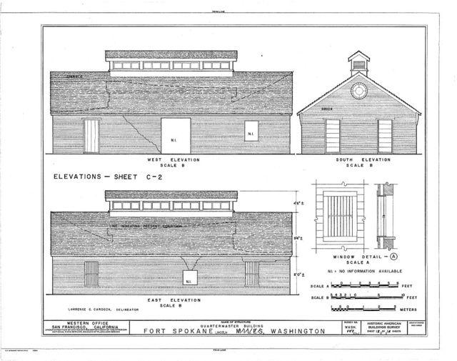 Fort Spokane, Quartermaster Building, Lincoln, Lincoln County, WA