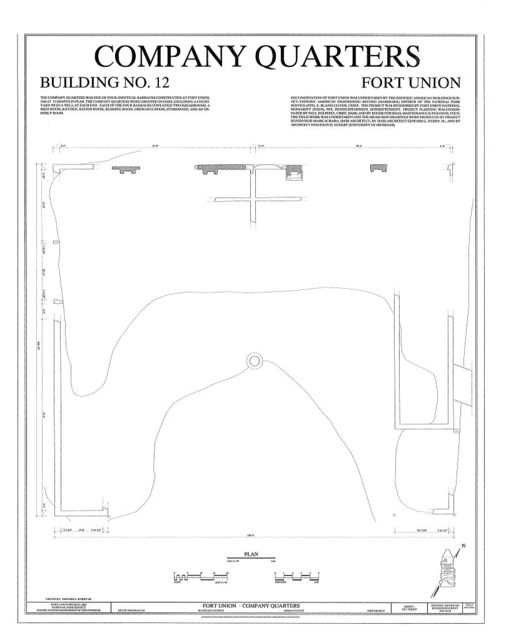 Fort Union, Company Quarters, State Highway No. 161, Watrous, Mora County, NM