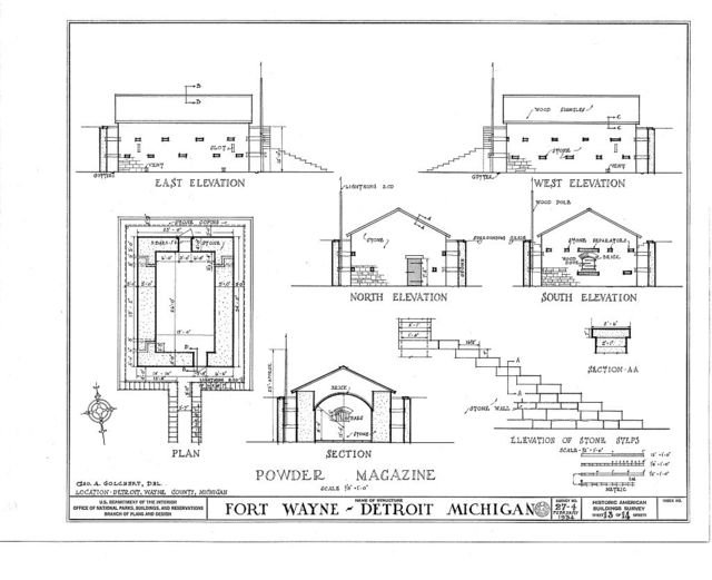 Fort Wayne, West Jefferson & Livernois Avenues, Detroit, Wayne County, MI