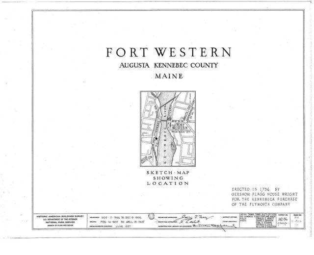 Fort Western, Main Building, Bowman Street, Augusta, Kennebec County, ME