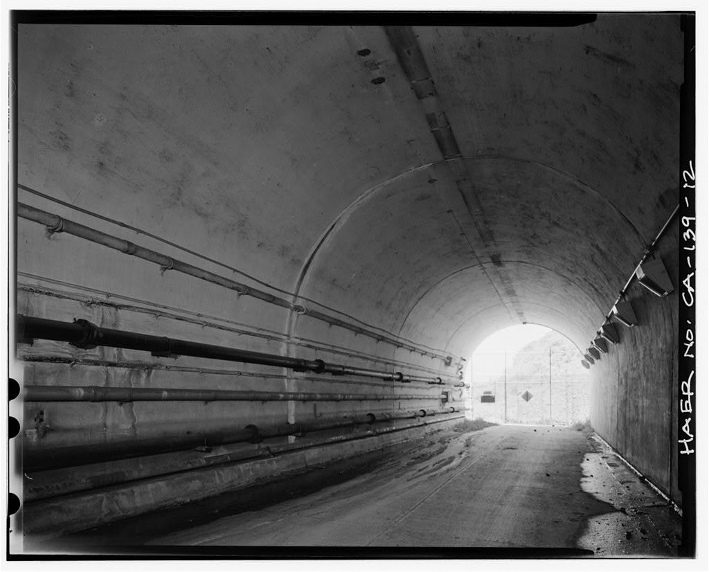 Forts Baker-Barry Tunnel, Under Lime Point Ridge on Bunker Road, Sausalito, Marin County, CA