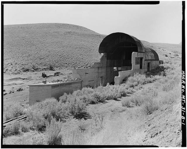 Foster Gulch Mine, Boiler Housing, Bear Creek 1 mile Southwest of Town of Bear Creek, Red Lodge, Carbon County, MT