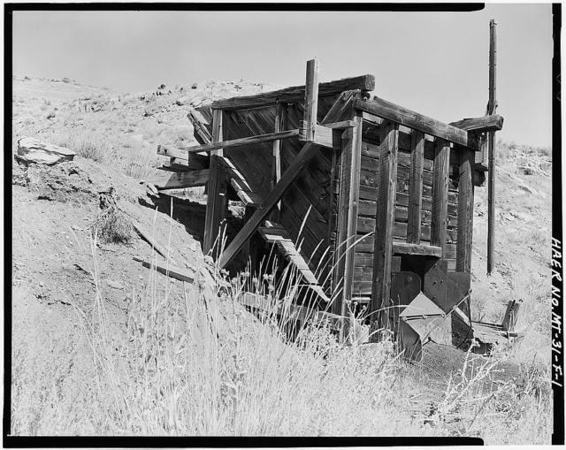 Foster Gulch Mine, Coal Bin, Bear Creek 1 mile Southwest of Town of Bear Creek, Red Lodge, Carbon County, MT