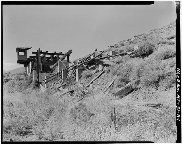 Foster Gulch Mine, Tipple (ruins), Bear Creek 1 mile Southwest of Town of Bear Creek, Red Lodge, Carbon County, MT